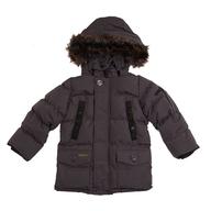 kids black stadium coat