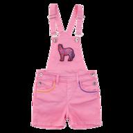 kids pink overall shelf pulls