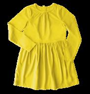 kids yellow dress shelf pulls
