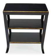 mayfair black gold night stand
