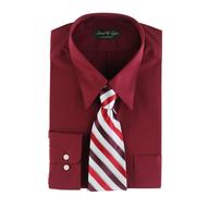 mens dress shirt red