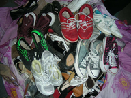 liquidation mixed shoes in sacks