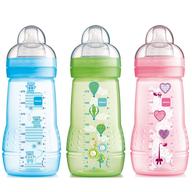 multi color baby bottles