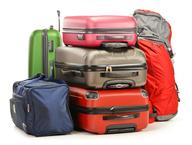 multi color luggage