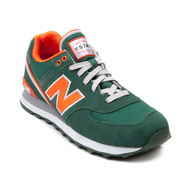 new balance green orange sneakers