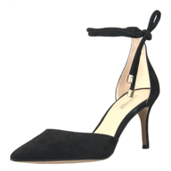 nine west black sandal heel
