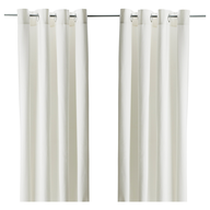 off white curtains