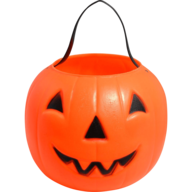orange pumpkin candy holder
