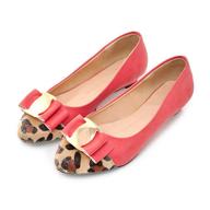 pink cheetah flats