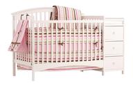 pink crib dresser