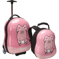 pink crocs luggage