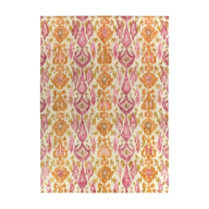 salvage pink orange square rug