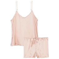 pink polka dots pajama set