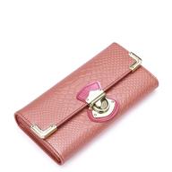 pink snake skin wallet
