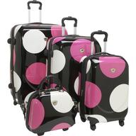 polka dot luggage set