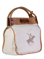 polo club white brown handbag liquidators