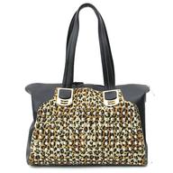 print studs handbag