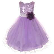 purple childrens dress