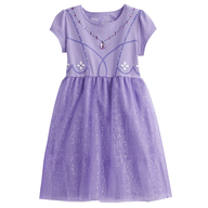 purple kids dress shelf pulls