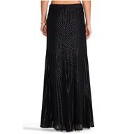 rachel zoe maxi skirt black