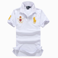 ralph lauren mens white gold polo