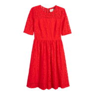 overstock red floral dress