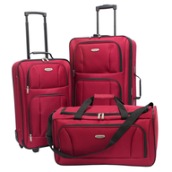 red luggage assorted