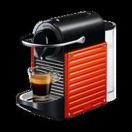 red nespresso machine