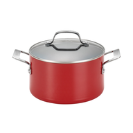 red pot cookware