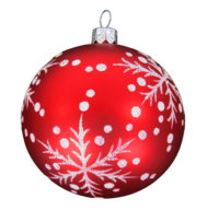 wholesale red white christmas ball