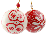 wholesale red white tree ornaments