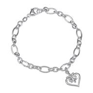 silver heart bracelet closeouts
