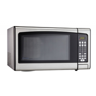 overstock silver microwave