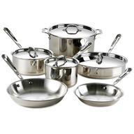 silver pots and pans