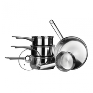 overstock silver pots pans
