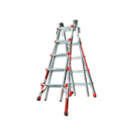 silver red ladder