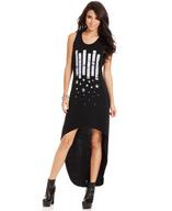 stars high low maxi dress