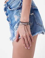 stradivarius embroidered denim shorts