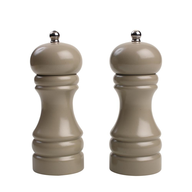 taupe salt and pepper mill