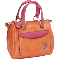 us polo orange pink bag