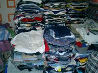 liquidation used clothing folded