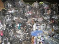 salvage used footwear in sacks