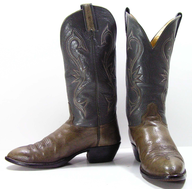used green cowboy boots