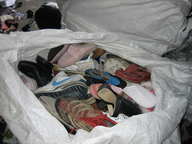 used shoes in sacks