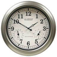 wall clock silver shelf pulls