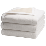 closeout white blankets