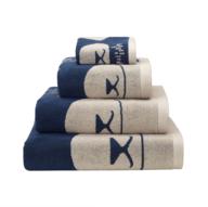 wholesale liquidation white blue bath towels
