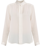 white long sleeve silk blouse liquidators