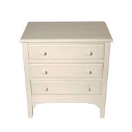 white mini dresser