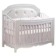 white pink crib